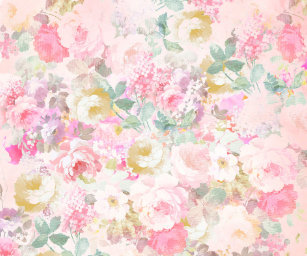 Watercolor wrapping paper zazzle chic retro pink white watercolor floral pattern wrapping paper mightylinksfo
