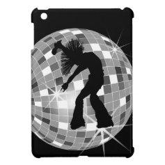 Chic Retro Singer Dancer on Disco Ball iPad Mini Covers