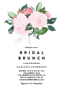 Brunch bridal shower invitations announcements zazzle chic romance bridal shower brunch invitation filmwisefo