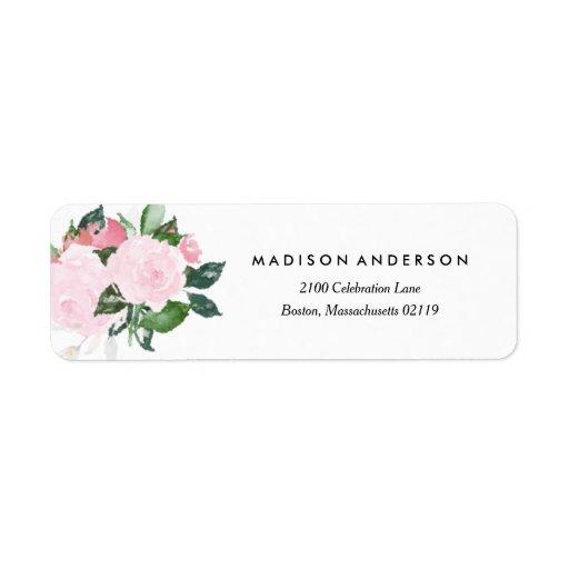 Chic romance return address label zazzle for Wedding mailing labels templates