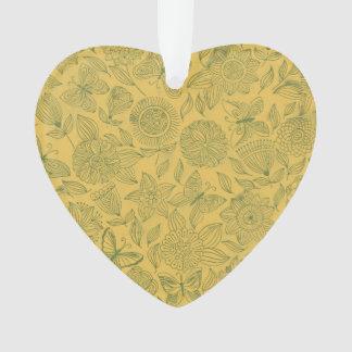 Chic romantic flower Pattern, golden