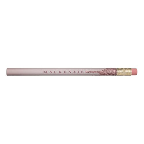 Chic Rose Gold Dripping Glitter Luxury Pencil