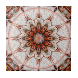 Chic Rose Gold Feather Geometric Floral Tile