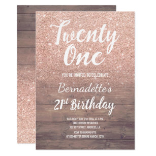modern 21st birthday invitations zazzle