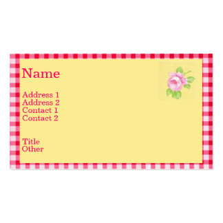 Chic Rose Profile Card Business Card