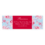 Chic Roses Blue Skinny Business Card 2