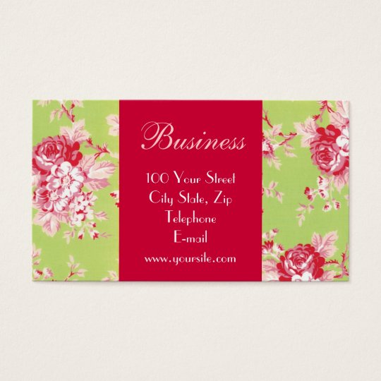 Chic Roses Business Card 2