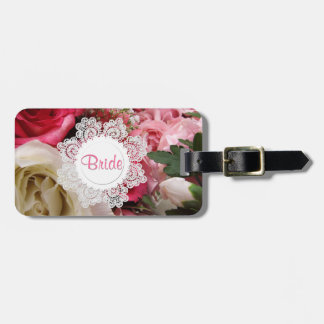 Chic Roses Custom Bride's Luggage Tag
