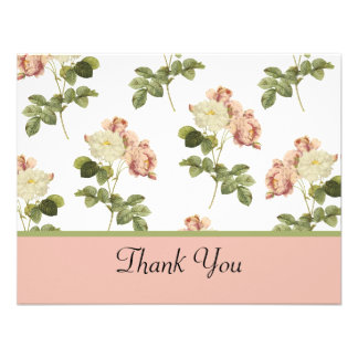Chic Roses Wedding Thank You Personalized Invites