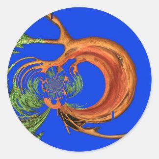 Chic Round Hakuna Matata Navy Blue collection Round Stickers