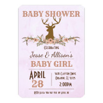 Chic Rustic Country Baby Shower Invitation