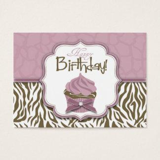 Chic Safari Gift Tag Large Business Card