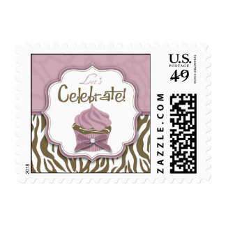 Chic Safari Invitation Stamp 2