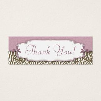 Chic Safari TY Skinny Gift Tag Mini Business Card