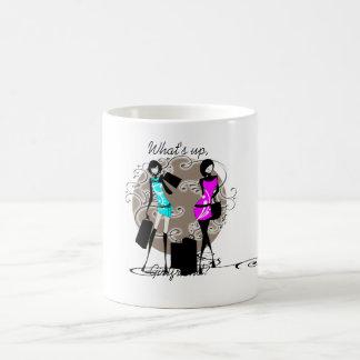 Chic sassy fashion divas girls classic white coffee mug