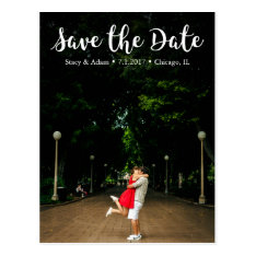Chic Save The Date Postcard at Zazzle