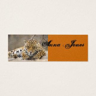 Chic Savvy Leopard Animal Pattern Peace Destiny Mini Business Card