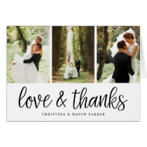Chic Script | Wedding Photo Collage Thank You
