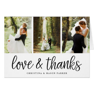 Chic Script   Wedding Photo Collage Thank You