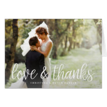 Chic Script | Wedding Photo Thank You