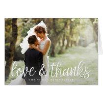 Chic Script   Wedding Photo Thank You Card
