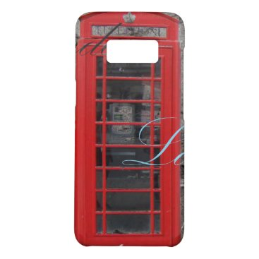 Beach Themed Chic scripts London Landmark Red Telephone Booth Case-Mate Samsung Galaxy S8 Case