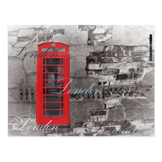 Chic scripts London Landmark Red Telephone Booth Postcard