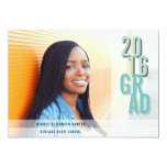 Chic Shadows Aqua   Photo Graduation Party Card