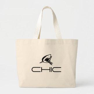 CHIC - Shark Motif Canvas Bags