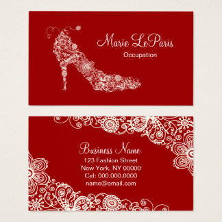 Chic Shoe - CHANGE COLOR Business Card