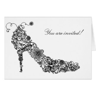 Chic Shoe Greeting ~ Note Card