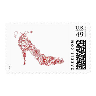 Chic Shoe - Postage Stamps