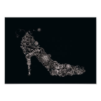 Chic Shoe Poster Print