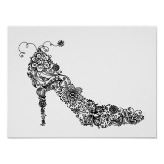 Chic Shoe ~ Poster Print