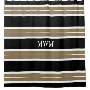 tan striped shower curtain. CHIC SHOWER CURTAIN 620 TAN BLACK WHITE STRIPES Tan And White Shower Curtains  Zazzle
