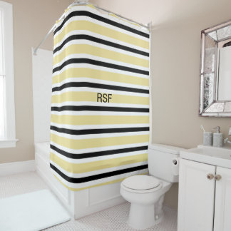 black and white striped shower curtain. CHIC SHOWER CURTAIN 9 BUTTER BLACK WHITE STRIPES Black And White Stripes Shower Curtains  Zazzle