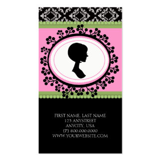 Chic Silhouette Business Cards