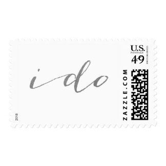 CHIC SILVER FOIL I DO POSTAGE POSTAGE STAMPS