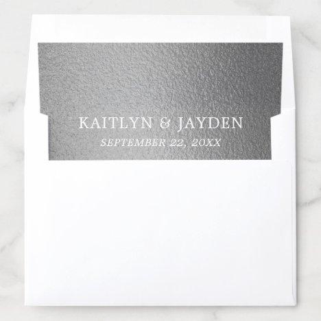 Chic Silver Foil Wedding Envelope Liner