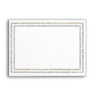 Chic Silver Glittered Trim - Envelope