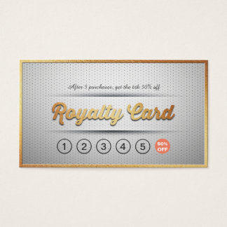 Chic Silver Gold Makeup Beauty Hair Salon Loyalty Business Card