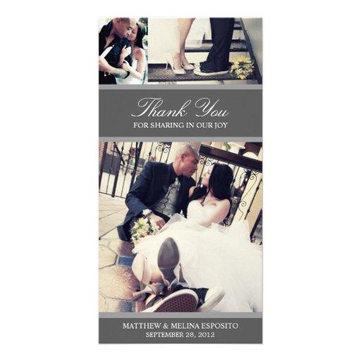 CHIC SILVER GRATITUDE | WEDDING THANK YOU CARD CUSTOMIZED PHOTO CARD