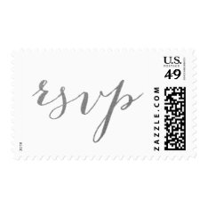 Chic Silver Rsvp Postage at Zazzle
