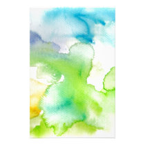 Chic Simple Beautiful Abstract Watercolor Pattern Stationery