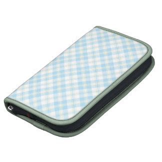 Chic Sky Blue and White Check Rickshaw Planner