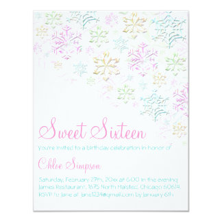 Chic Snowflake Sweet16 Invitation