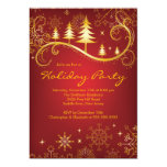 Chic Snowflakes Christmas Trees Holiday Party Personalized Invite