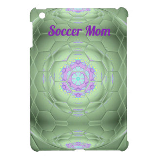 Chic 'Soccer Mom Green Artistic Pattern Cover For The iPad Mini