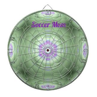 Chic 'Soccer Mom Green Artistic Pattern Dartboard With Darts