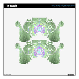 Chic 'Soccer Mom Green Artistic Pattern PS3 Controller Decal